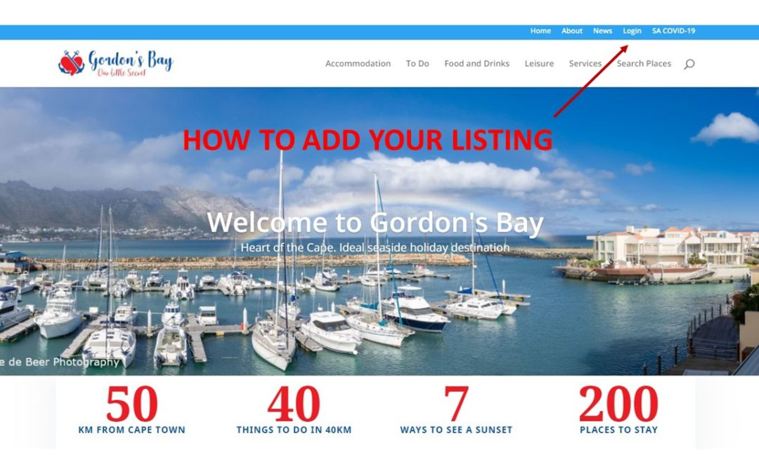 Your own listing on this website